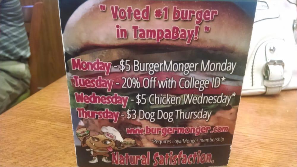 Burger monger coupons