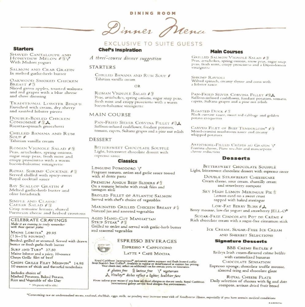 Royal Caribbean Enchantment Of The Seas Room Service