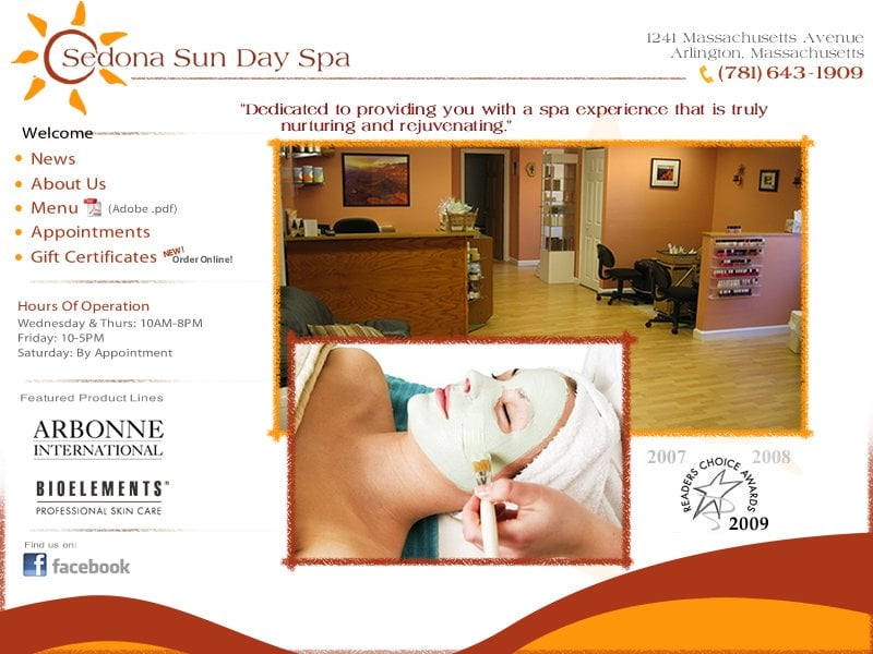 Sedona Sun Day Spa: 1241 Massachusetts Ave, Arlington, MA