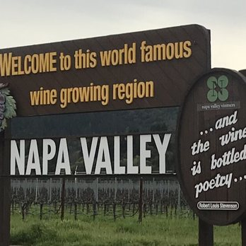 Napa Valley Welcome Sign - 7647 St Helena Hwy, Napa, CA - 2019 All