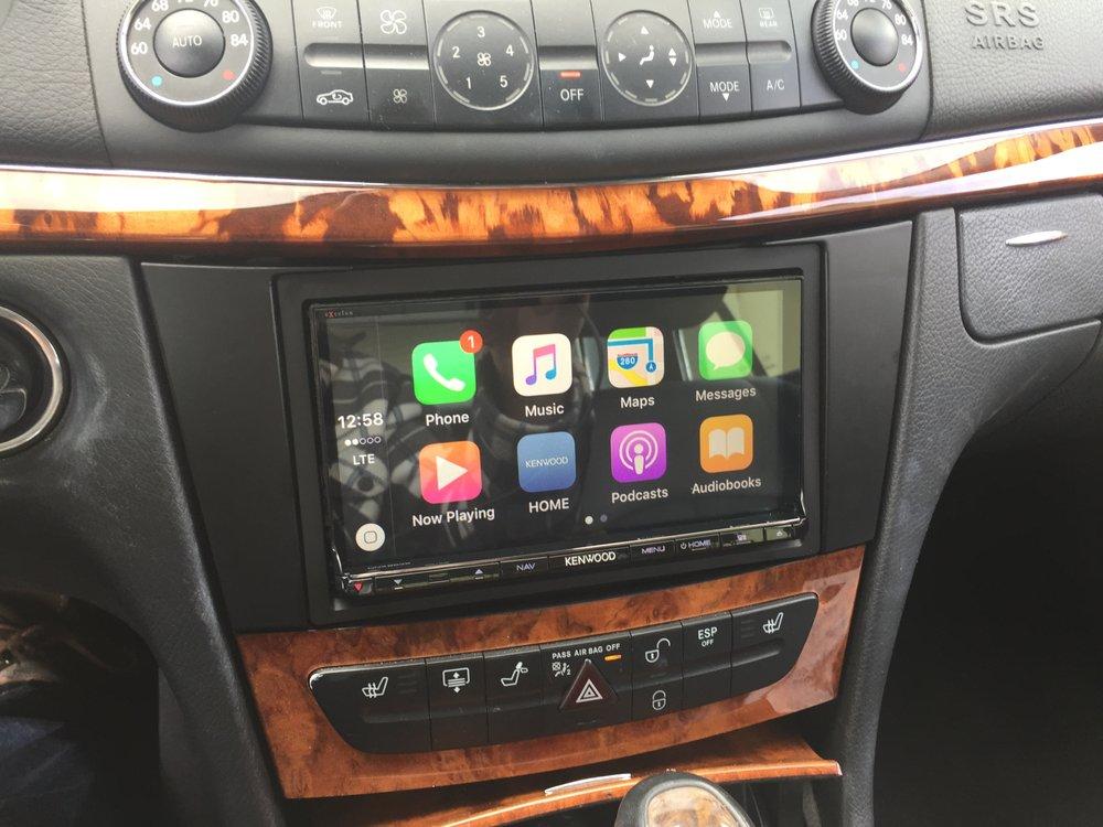 mercedes w211 e class kenwood car play radio install yelp. Black Bedroom Furniture Sets. Home Design Ideas