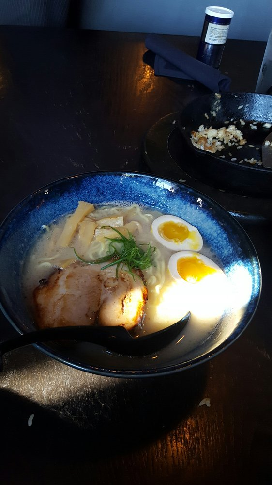 Food from Tamashii Ramen