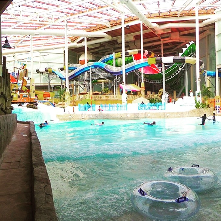 Camelback Lodge Indoor Waterpark Home: The Wave Pool At Aquatopia And Behind You See Part Of The