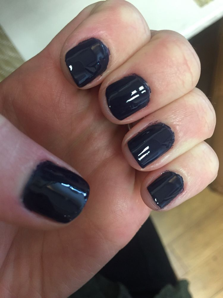Dark purple, taking a break from gel. Regular $10 mani - Yelp
