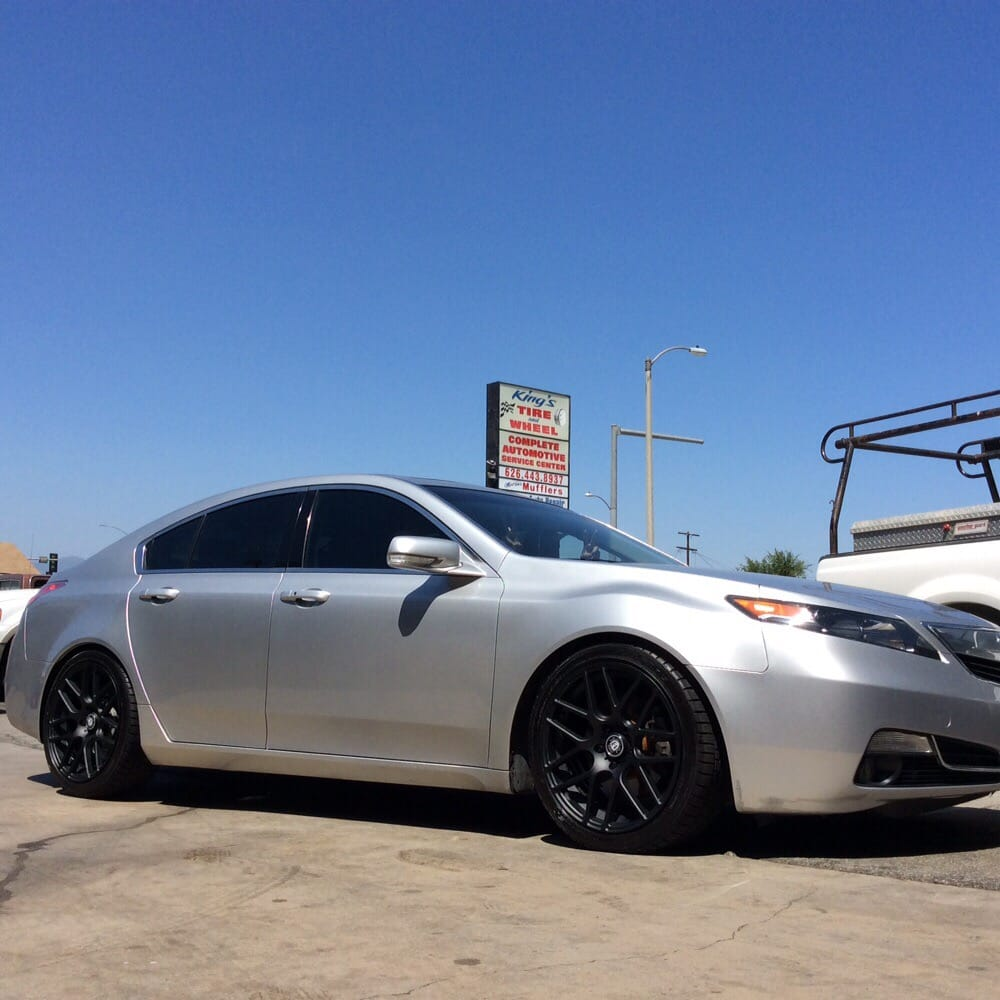 "Acura TL On 19"" Matte Black CURVA Concept Wheels With"