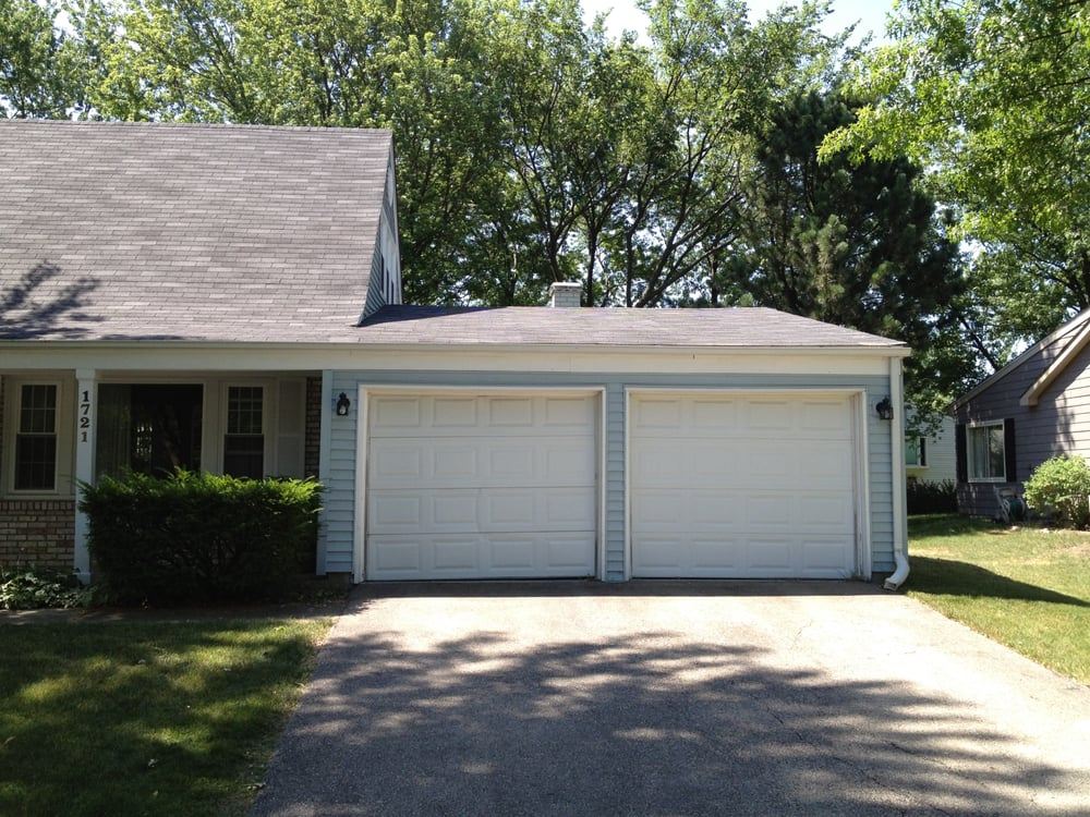 2 single car garage doors converted into 1 double yelp for How wide is a one car garage door