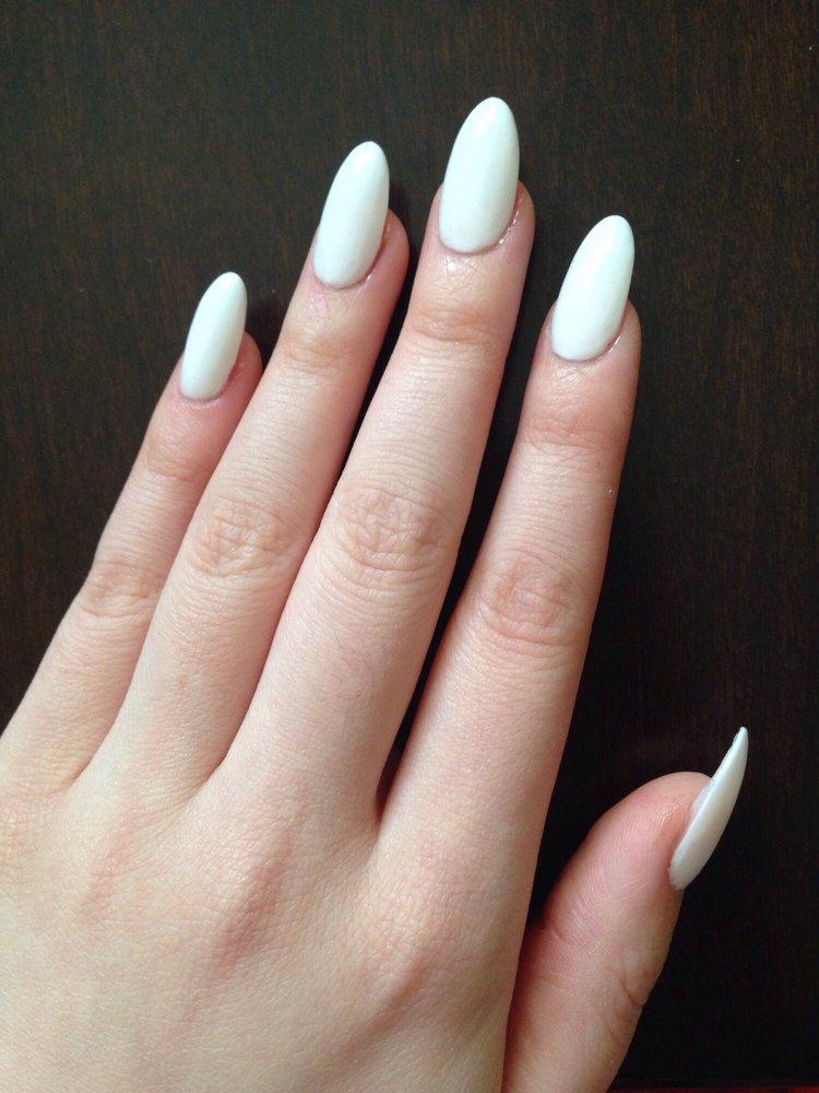 Nexgen white almond nails - Yelp Almond Nails Tumblr