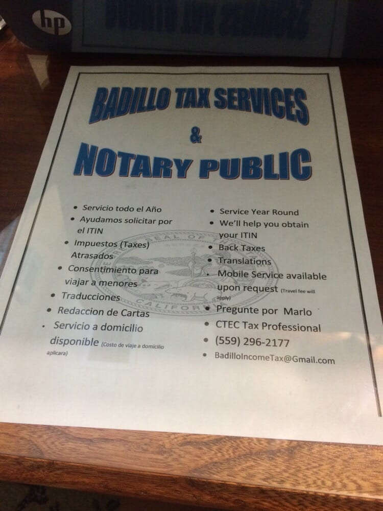 Badillo Tax Services: Porterville, CA