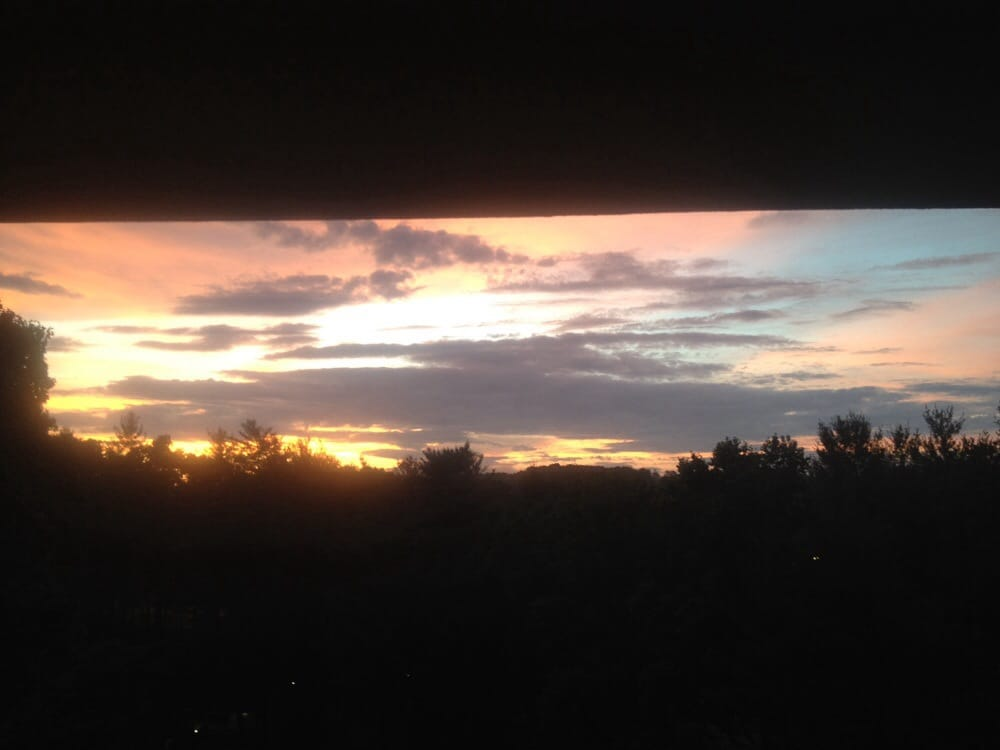 Rooms: Sunset From My Balcony Over The Trees