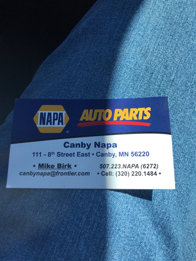 Canby-Napa Auto Parts: 111 8th St E, Canby, MN