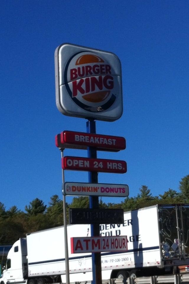 burger king 10 recensioner snabbmat 1 rte 24 n bridgewater ma usa. Black Bedroom Furniture Sets. Home Design Ideas