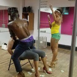 Stripper pole class