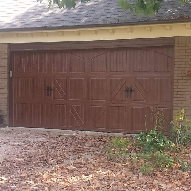 Amarr classica walnut wood grain yelp for Wood grain garage doors