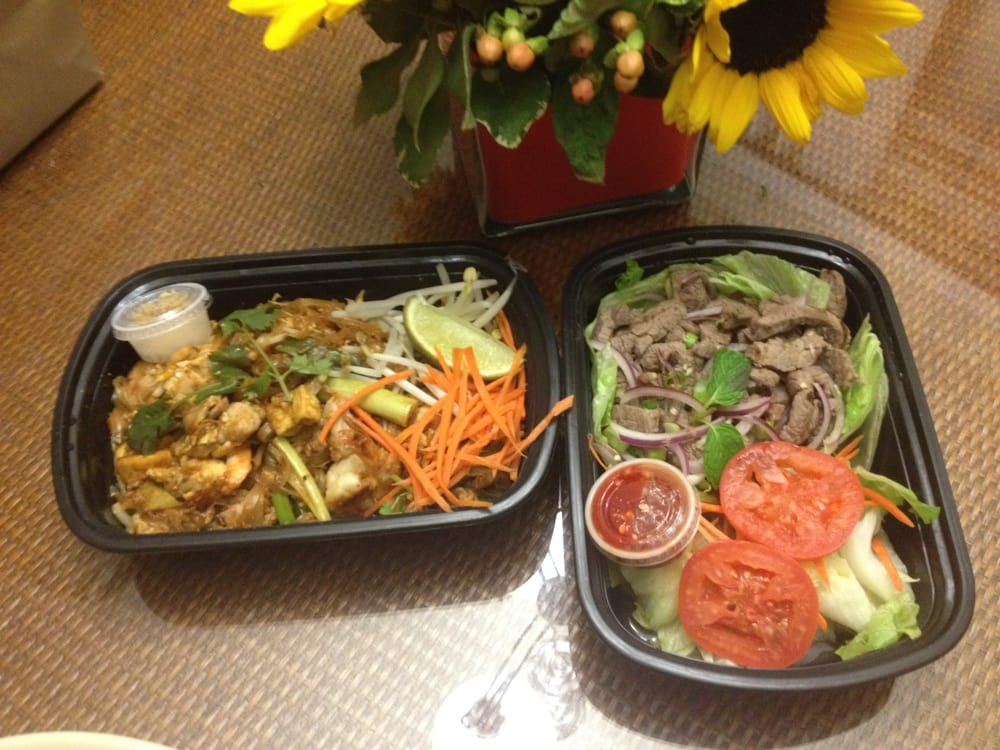 Pad thai waterfall beef salad to go yelp for Ayara thai cuisine los angeles ca