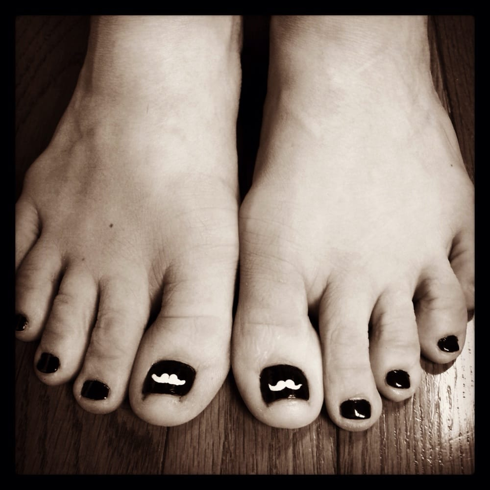 Hollywood Nail And Spa: The Nail Tech Put Mustaches On My Thumb Toes.