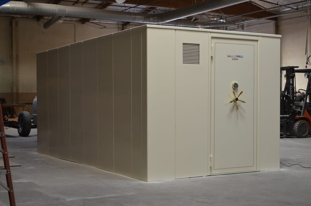 Rest assured vault pro will build a modular safe room or for Walk in safe rooms