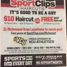 sport clips coupons free haircut sport 17 reviews barbers 1700 willow lawn plz 2548 | 258s