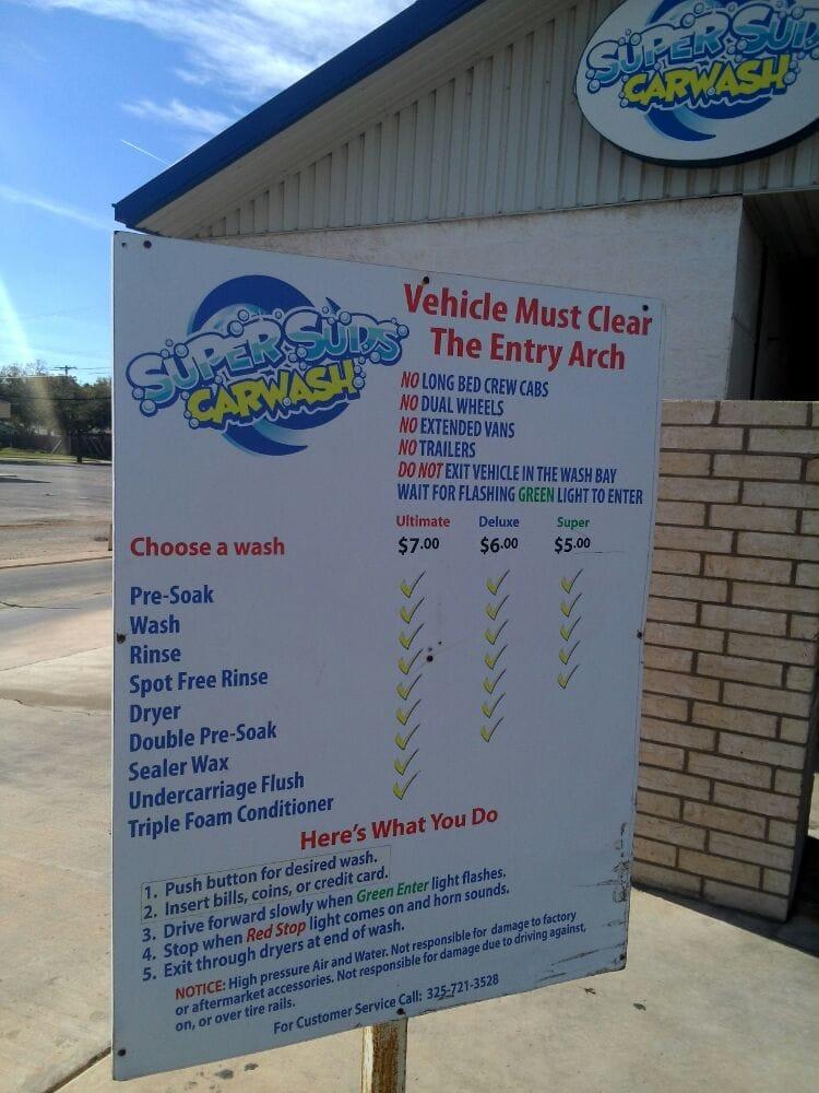 Super Suds Car Wash: 858 Mockingbird, Abilene, TX