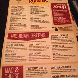 Photo of Twisted Rooster Chesterfield - Chesterfield, MI, United States. Front menu