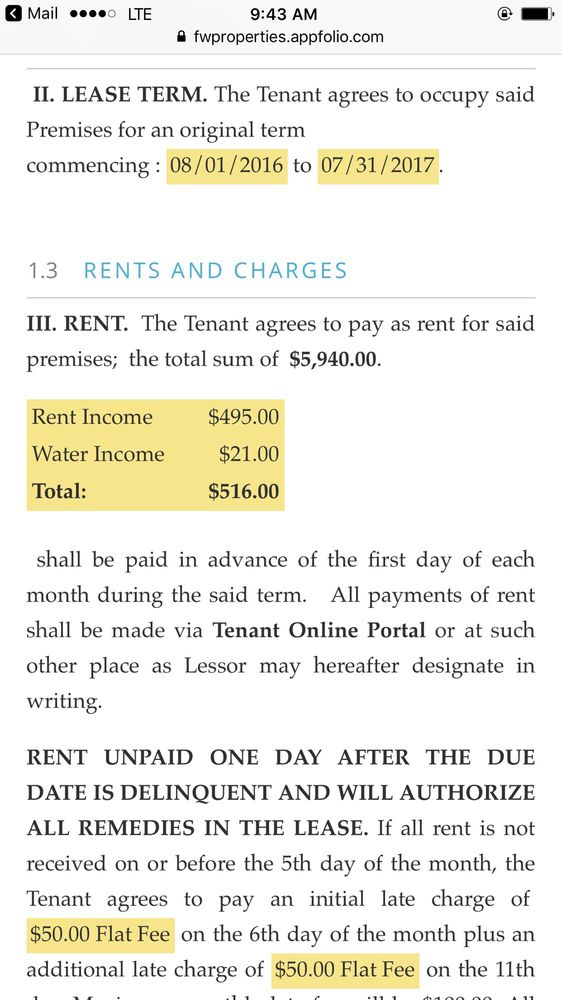 Lease Agreement From Last Year Vs This Year Who Raises Rent