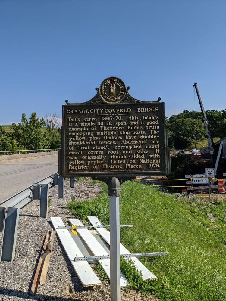Grange City Covered Bridge: Hillsboro Rd, Grange City, KY