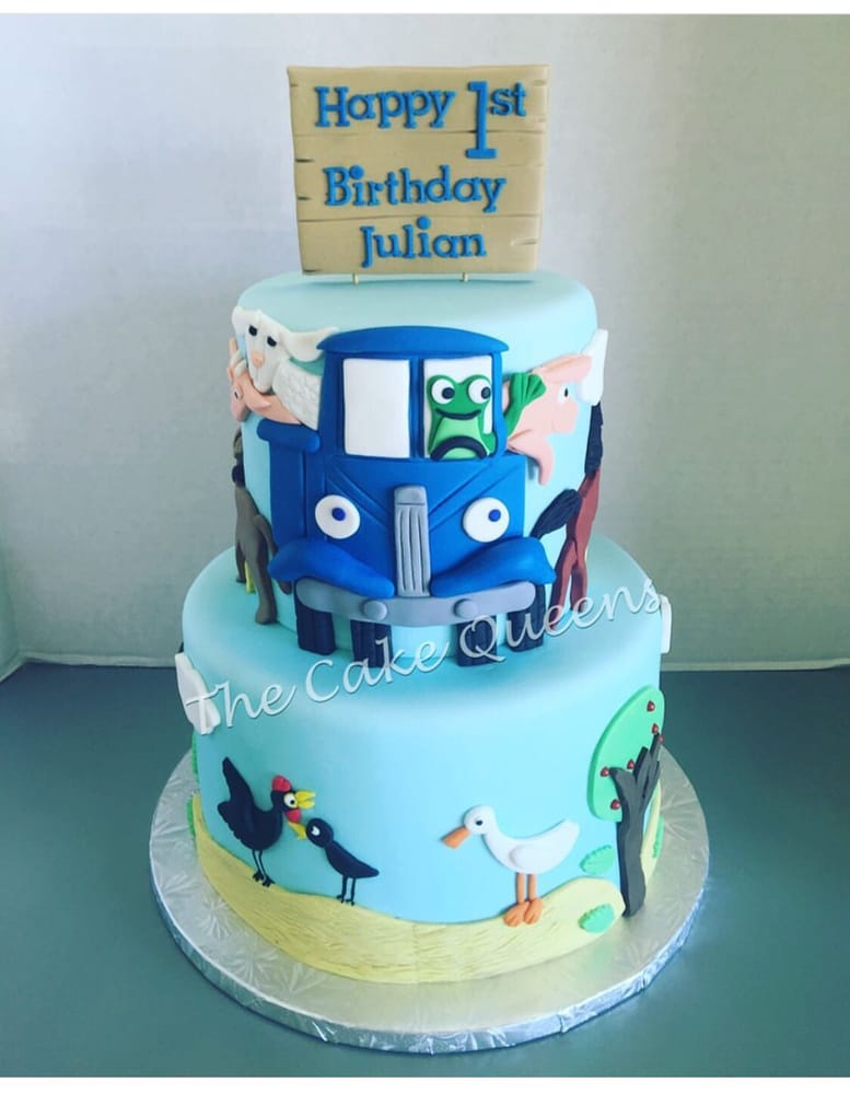 Auto Service Near Me >> Little Blue Truck 1st Birthday Cake - Yelp