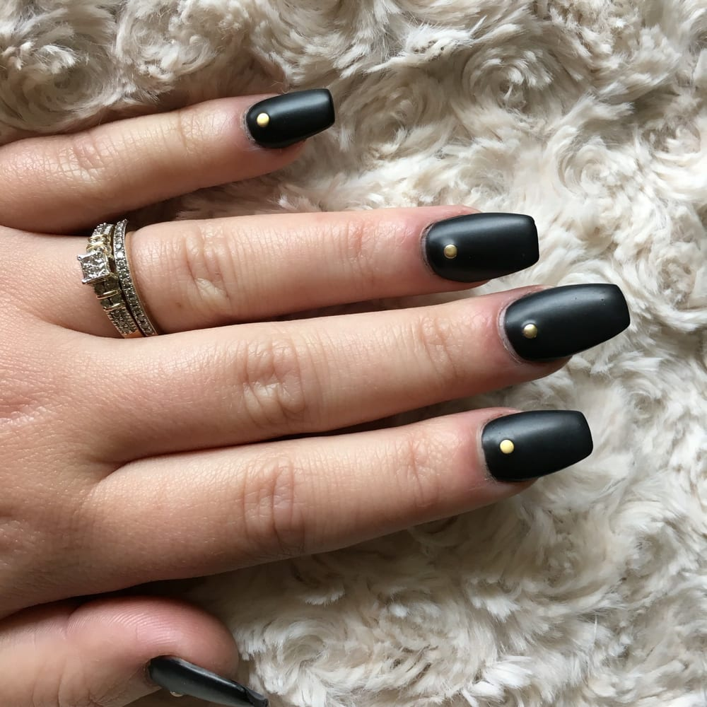 Matte Black with gold gem! - Yelp