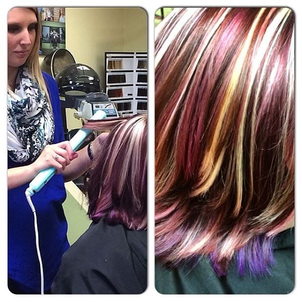 Hair cut colored styled by jaymie granger halo designs for Halo salon vancouver