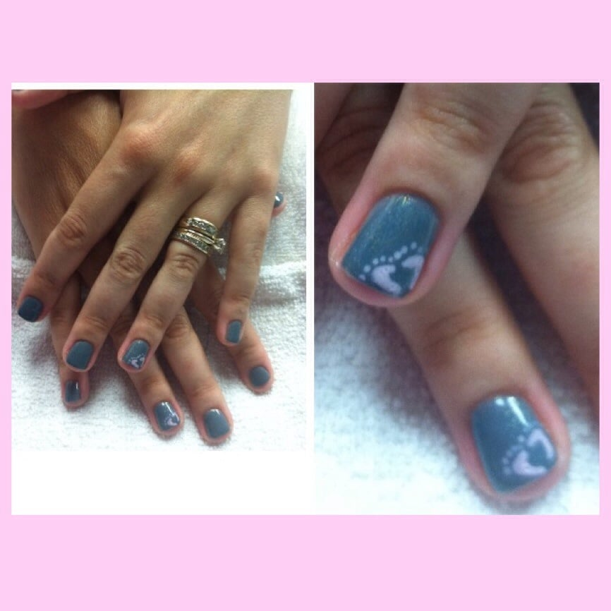 Welcome Baby Girl Hand Painted Nail Art Yelp