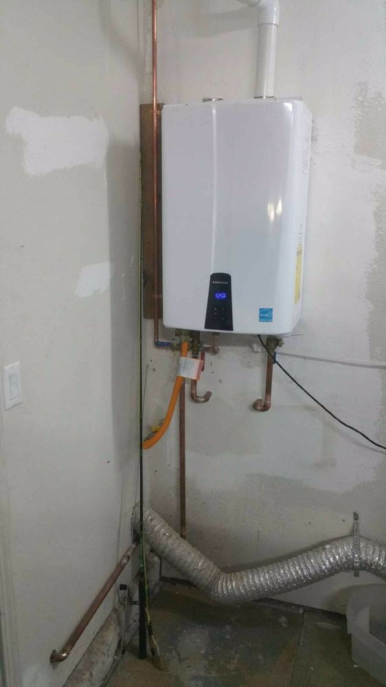 Navien Tankless Water Heater With Built In Recirculating