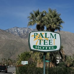 Photo Of Palm Tee Hotel Springs Ca United States Street Sign
