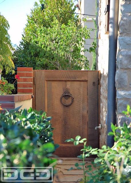Custom Designed Tuscan Garden Gate In Real Reclaimed Barn