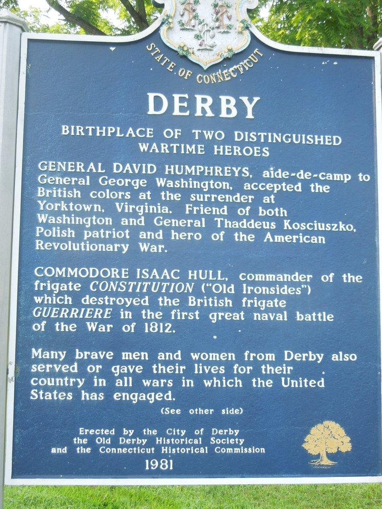 Derby Historical Marker: East Derby Green, Derby, CT