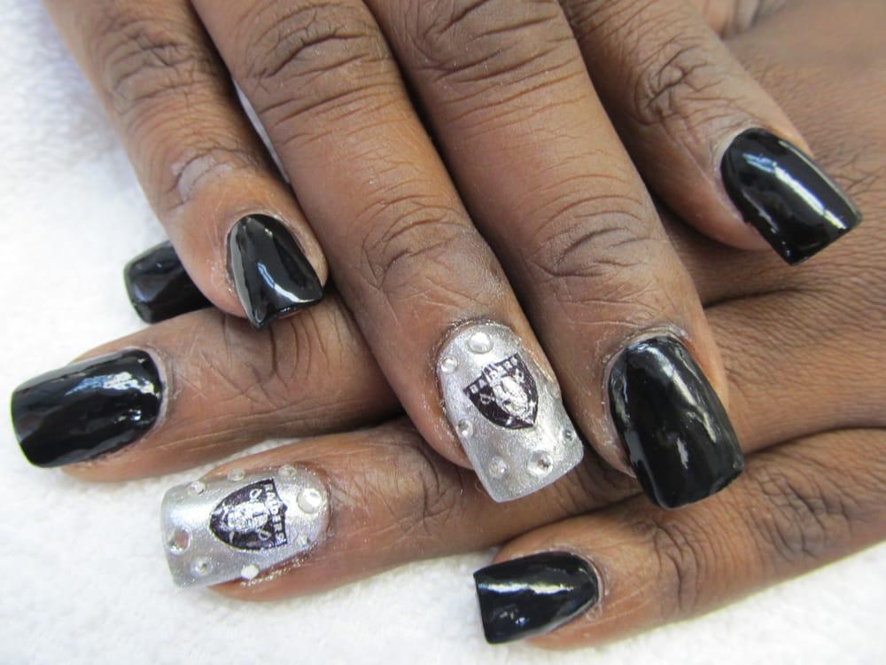 Raiders nail design - Yelp
