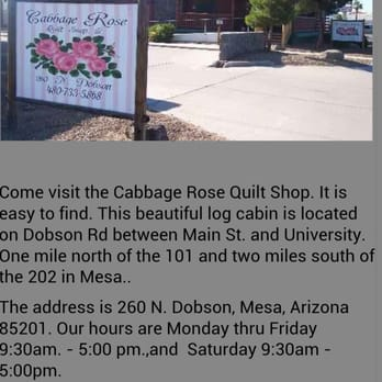 Cabbage Rose 10 Reviews Fabric Stores 260 N Dobson Rd Mesa
