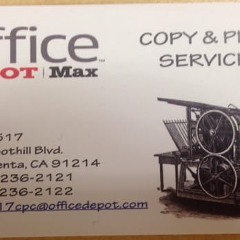 Photo Of Office Depot   La Crescenta, CA, United States. Email Your Doc