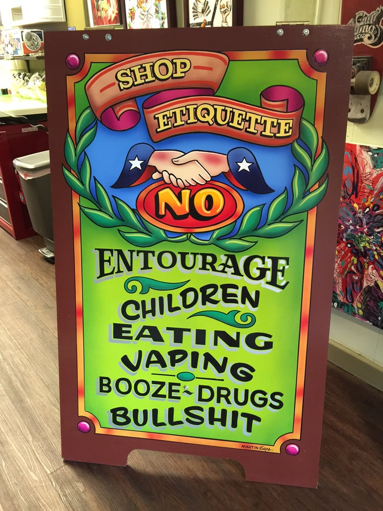 Simple rules of Fortune Bros Tattoo Shop. - Yelp