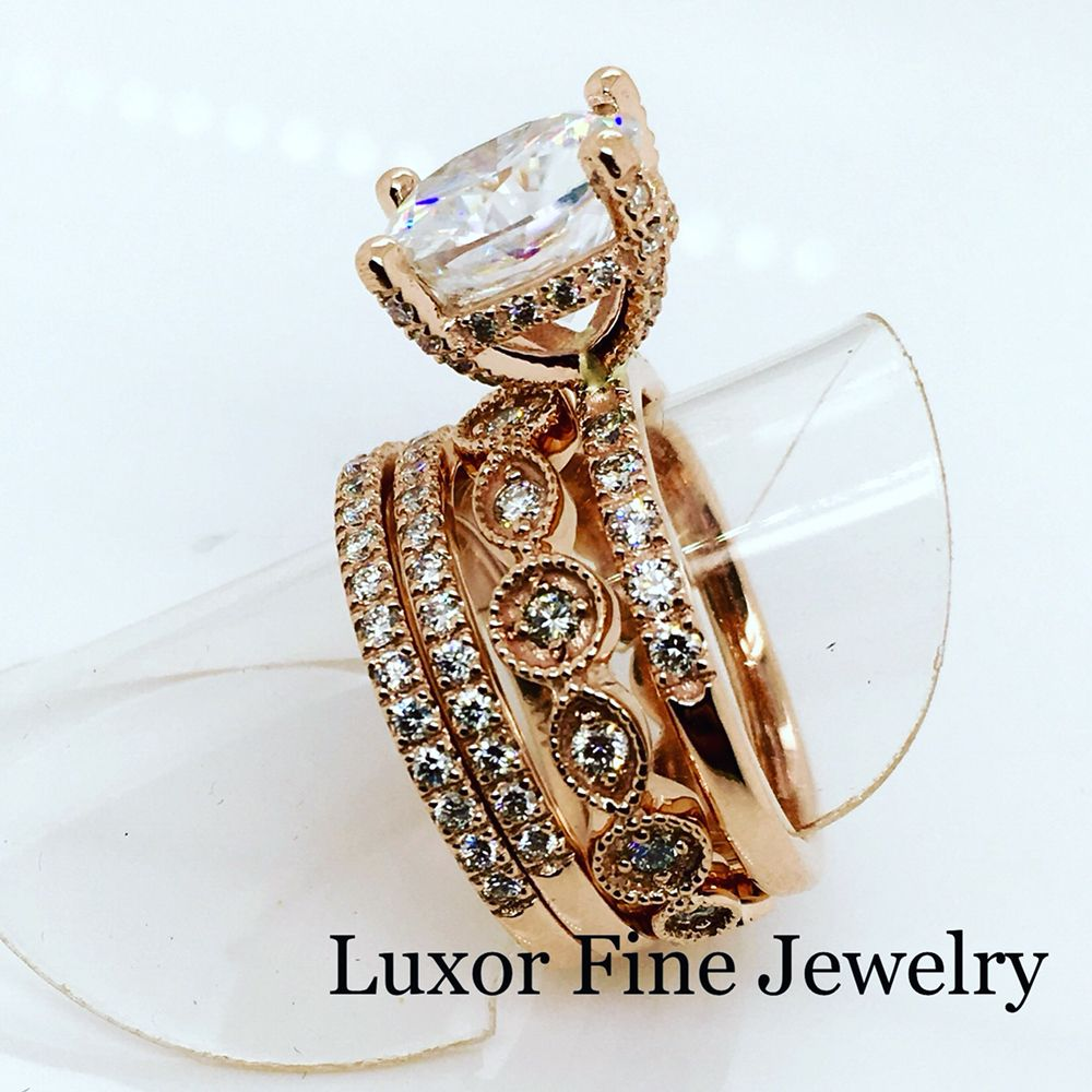 Rose gold stackable engagement ring yelp for Luxor fine jewelry atlanta ga