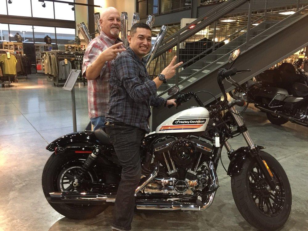 First Jet City Harley-Davidson motorcycle sale! Salesperson