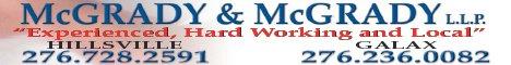 McGrady & McGrady: 127 Mill St, Hillsville, VA