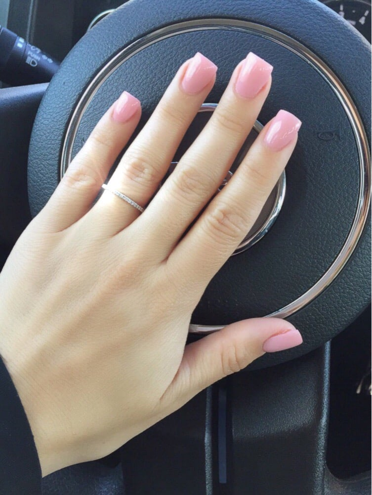 Done by Kathy. Gel Polish in the color 487-Fairy Dream. - Yelp