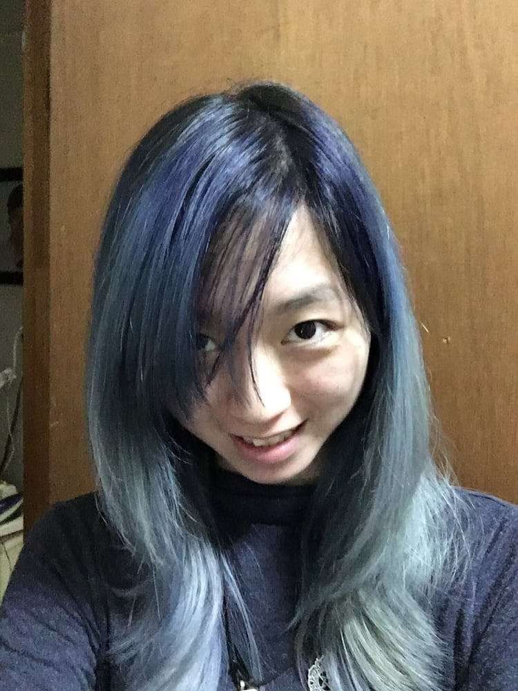 Another Angle Of The Steel Blue Hair Color Yelp