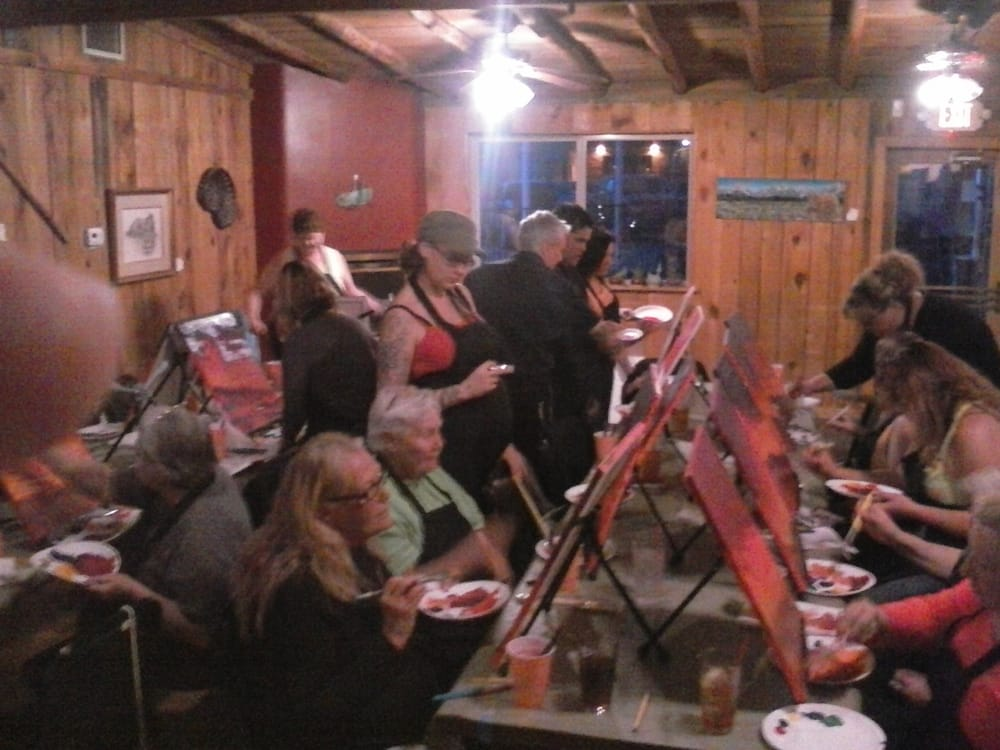 We 39 re at the grasshopper grill every 1st wednesday of the for Paint n pour