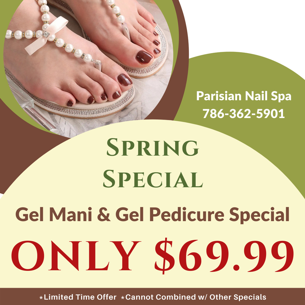 Parisian Nail Spa: 13051 SW 88th St, Miami, FL
