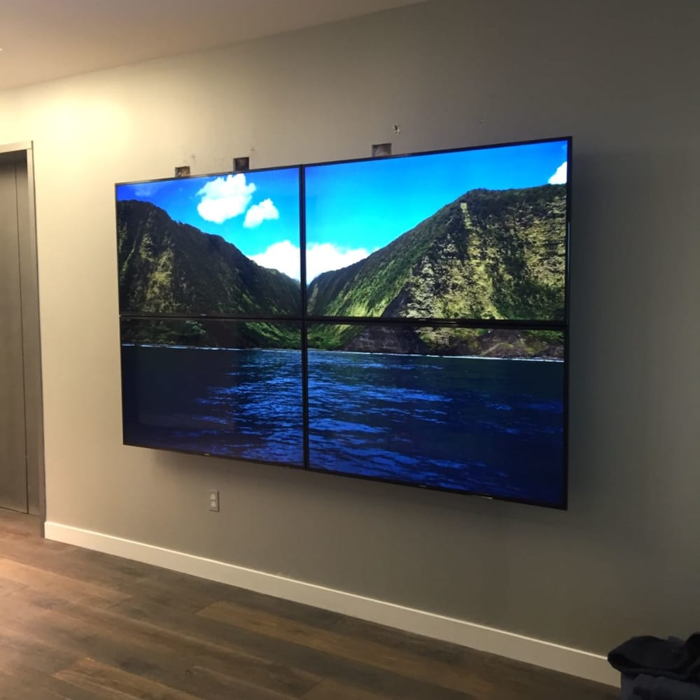 Hiperderl Smart Home Home Cinema Theater Multimedia Led: Video Wall Installation. Perfect Sense Digital. Reston VA