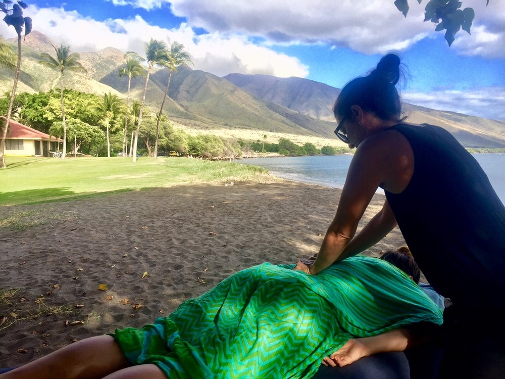 Massages On The Beach For Maui Surfer Girl Women's Retreat