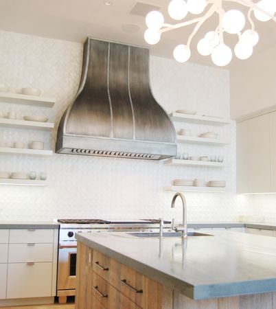 60 zinc kitchen hood with wolf hood liner yelp for Martin metal designs