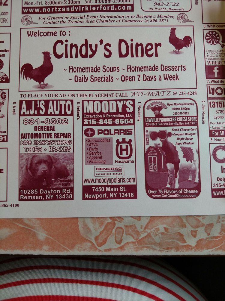 Cindy's Diner: Rt12, Remsen, NY
