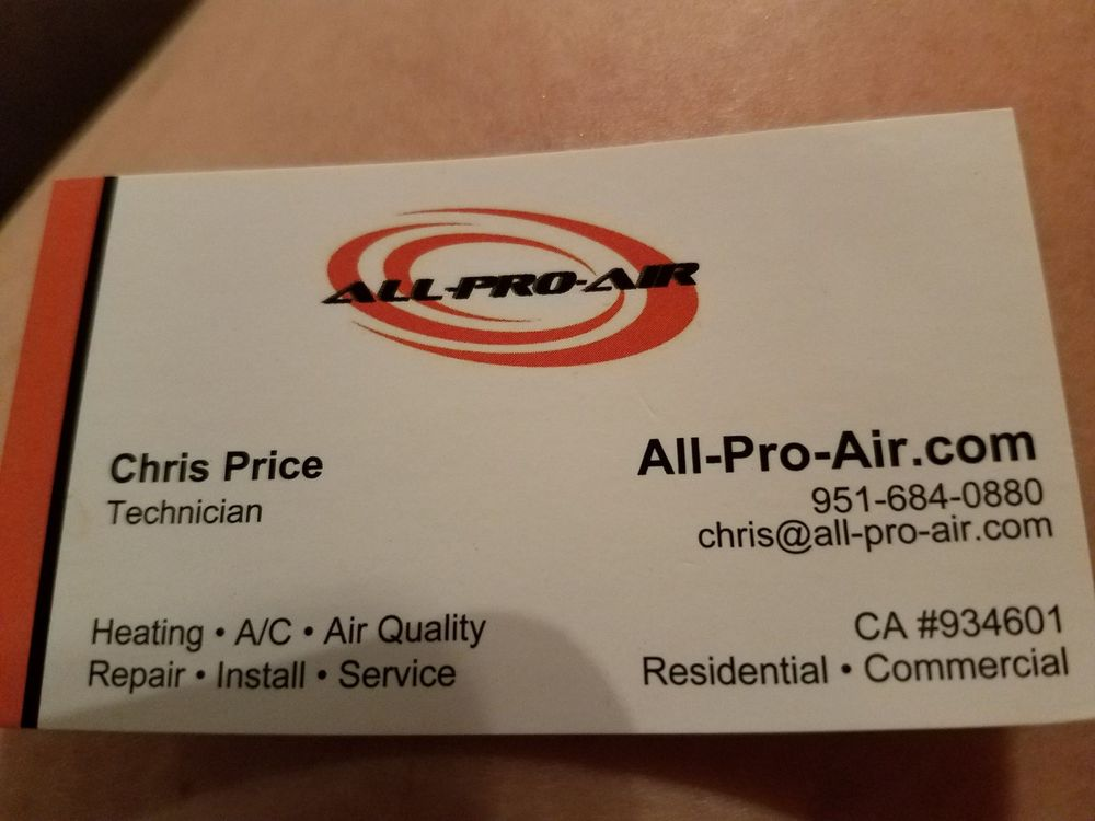 This Is The Picture Of The Business Card Awesomeacservice Yelp