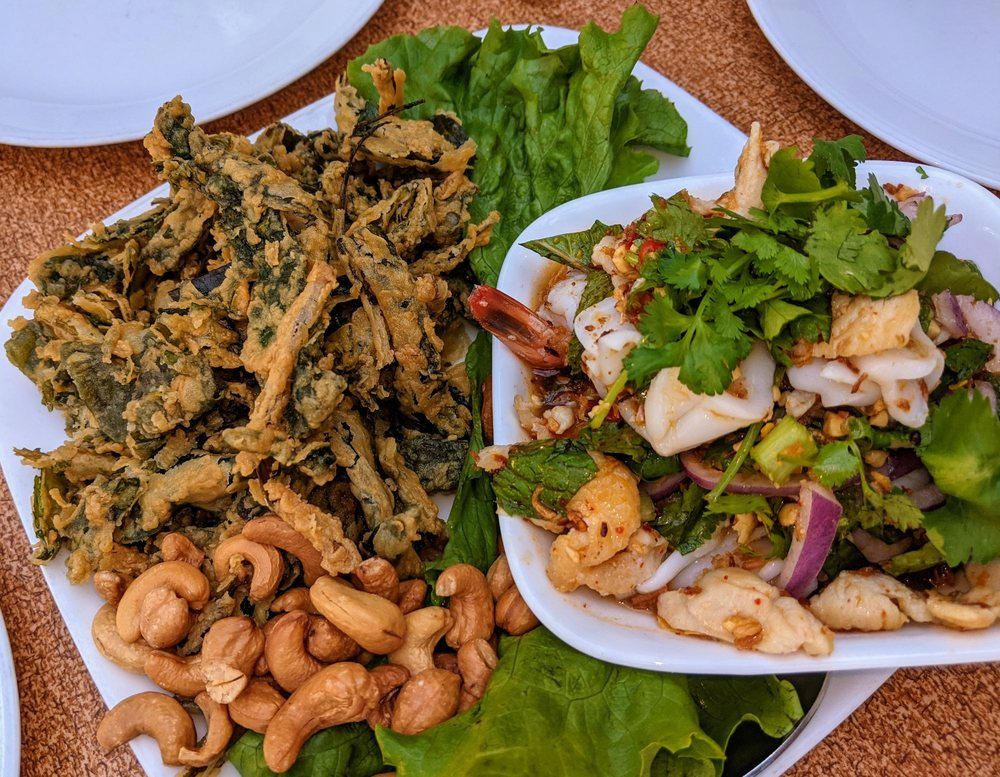 Food from SriPraPhai Thai Restaurant